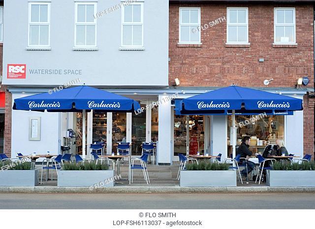 England, Warwickshire, Stratford upon Avon. Carluccios brasserie in Stratford upon Avon