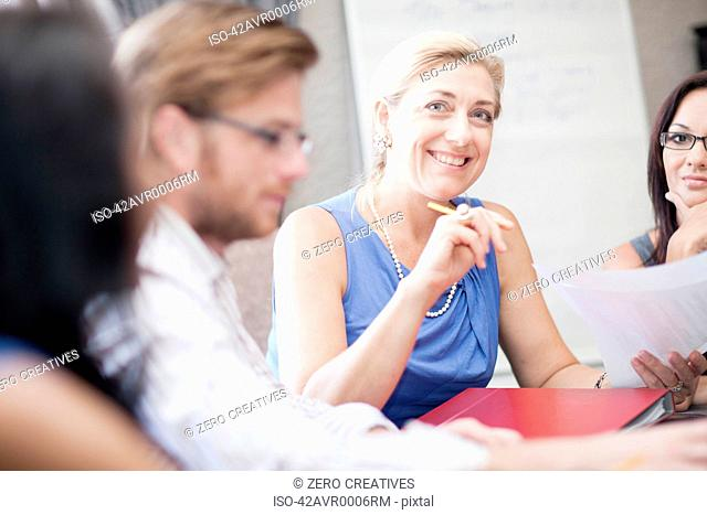Business people at conference table