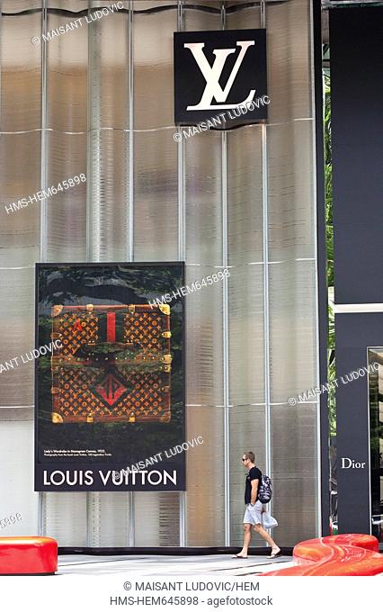 Singapore, Orchard Road, ION Orchard, shopping mall opened in 2009, a Louis Vuitton store, brand founded in 1854 by Louis Vuitton in Paris