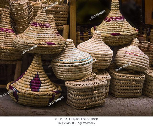 Morocco, Fes, Handicraft, Handmade baskets