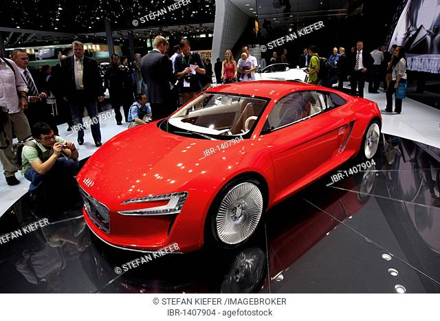 High-performance sports car with electric drive, Audi e-tron, study of the Audi AG, at the 63rd International Automobile Exhibition IAA 2009, in Frankfurt