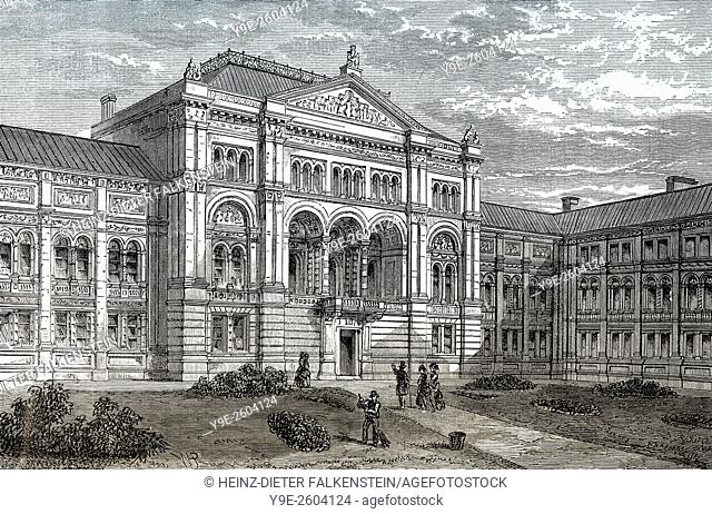 The court of the Victoria and Albert Museum, V&A, South Kensington, 19th century, London, England