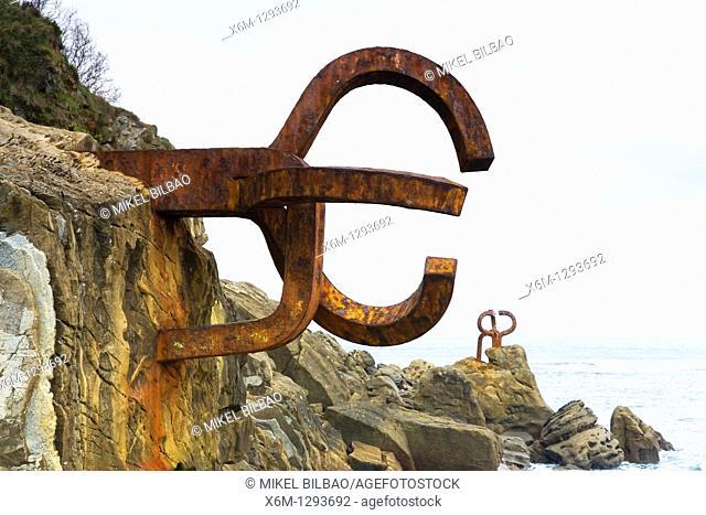 El Peine de los Vientos sculpted work of basque artist Eduardo Chillida  San Sebastian, Donosti, Guipuzkoa, Spain