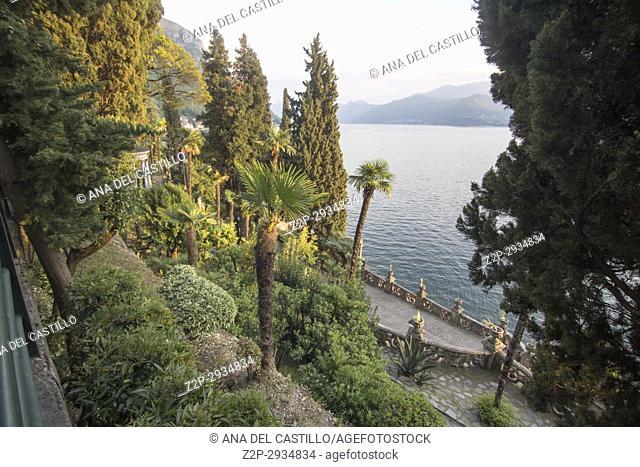 Como lake in Varenna Lombardy Italy Villa Monastero garden