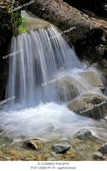 Waterfall in the Midi-Pyrénées, Pyrenees, France
