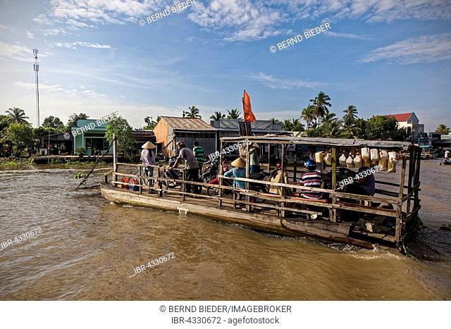 Small ferry in the Mekong Delta, Vietnam