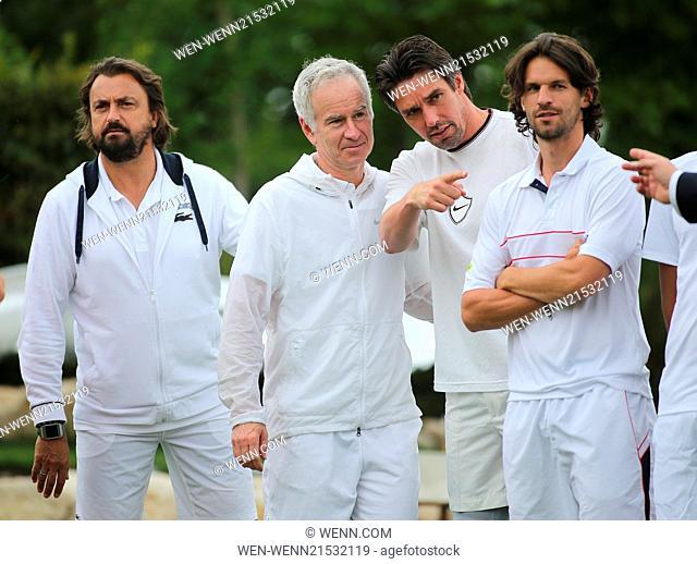 ATP World Tour Mercedes Cup 2014 at TC Weissenhof tennis club. Featuring: Henri Leconte,John McEnroe,Michael Stich,Philipp Petzschner Where: Stuttgart