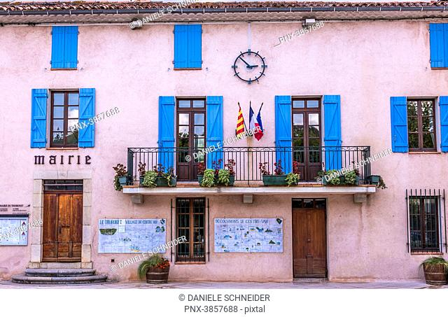 France, Provence-Alpes-Cote d'Azur, Fontaine, City hall of the village of Thoronet