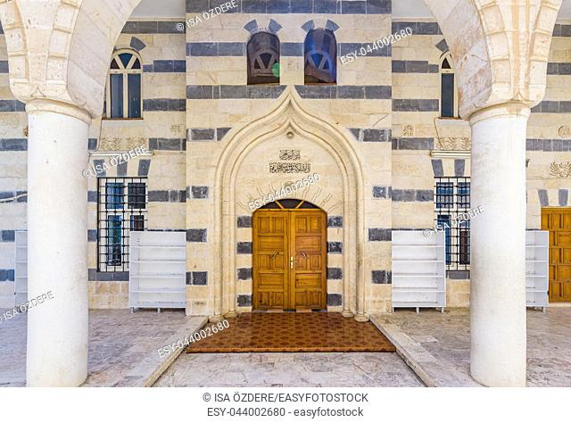 View of Kardesler(brothers)Mosque built in 1988, Sanliurfa, Turkey. 19 July 2018