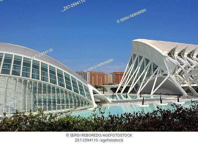 Spain, Europe, Valencia, City of Arts and Science, Calatrava, architecture, modern, Hemisferic, Palace of Arts