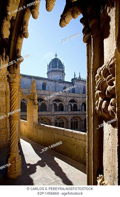 Portugal, Europe, Lisbon, Jeronimos, cloister, monastery, UNESCO, world cultural heritage, cloister, monastery
