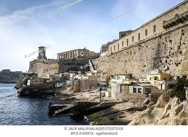 la valletta famous old town fortifications architecture scenic view in malta