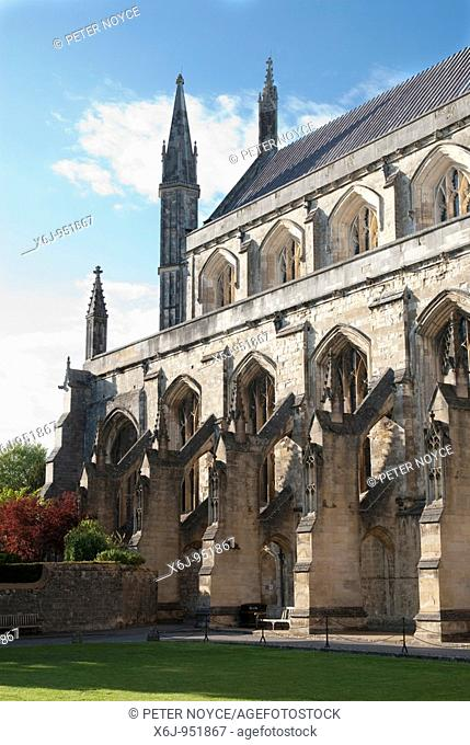 Winchester Cathedral south aspect with flying butresses