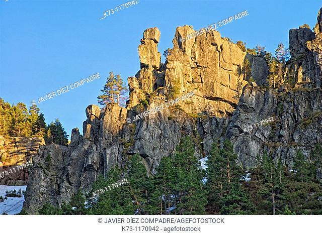Rock Formations. Lagunas Glaciares de Neila Natural Park. Burgos province. Castilla y Leon. Spain