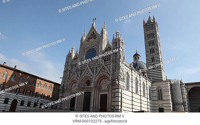 Siena Cathedral of the Most Holy Mary of Assumption Santa Maria Assunta Duomo di Siena, Facade, Southeastern Side, Bell Tower, Dome, Cathedral Museum