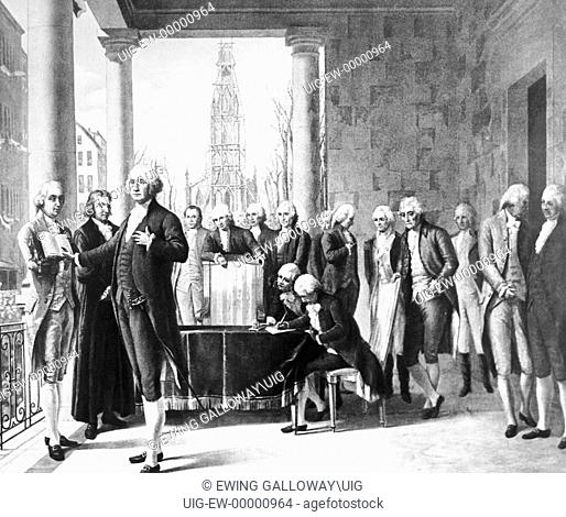George Washingtons Inauguration, 1789