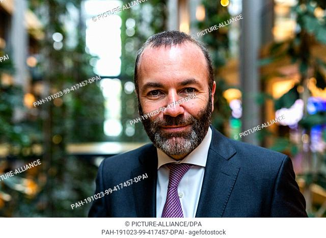 23 October 2019, France (France), Straßburg: Manfred Weber (CSU), leader of the Group of the European People's Party (EPP)