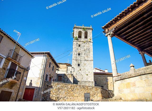 Church. Miranda del Castañar, Sierra de Francia Nature Reserve, Salamanca province, Castilla Leon, Spain