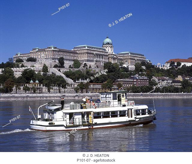 Hungary. Budapest. Buda castle and danube river
