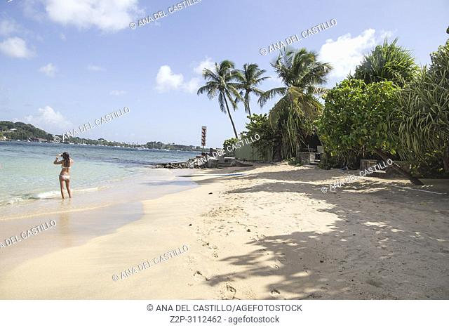 Young island near Kingstown Saint Vincent and the Grenadines Caribbean sea on December 7, 2017