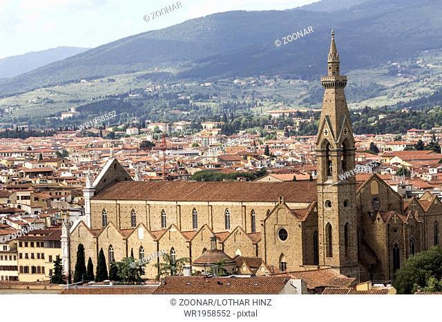 Florence, Franciscan church Santa Croce, Tuscany