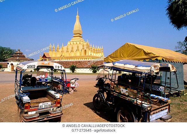 Golden stupa, Pha That Luang. Vientiane. Laos