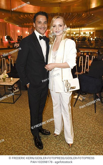 Kostja Ullmann and Janin Ullmann at the Aftershow Party of the German Film Award 2018 in the Palais am Funkturm. Berlin, 27.04.2018 | usage worldwide