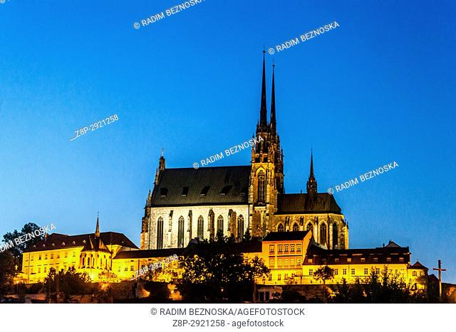 Cathedral of Saints Peter and Paul, Petrov hill, Brno, Moravia, Czech Republic