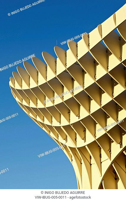 METROPOL PARASOL BY J MAYER H ARCHITECTS IN SEVILLA SPAIN. Detail of timberSEVILLA, SPAIN, Architect