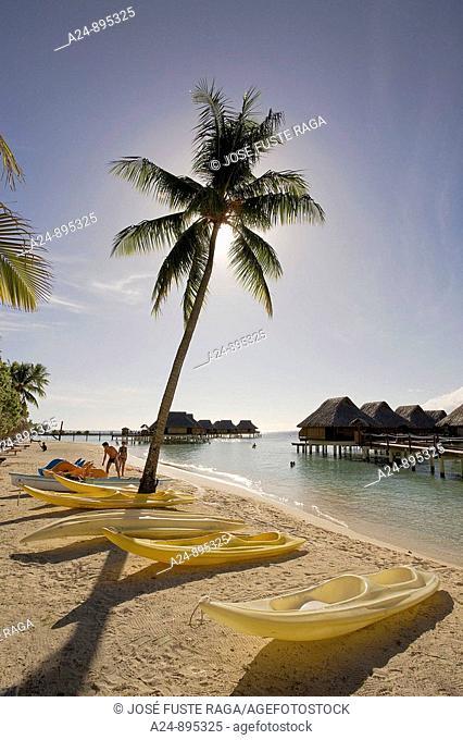 Huts, Bora Bora island, Society Islands, French Polynesia (May 2009)