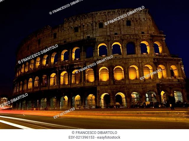Colesseum by night