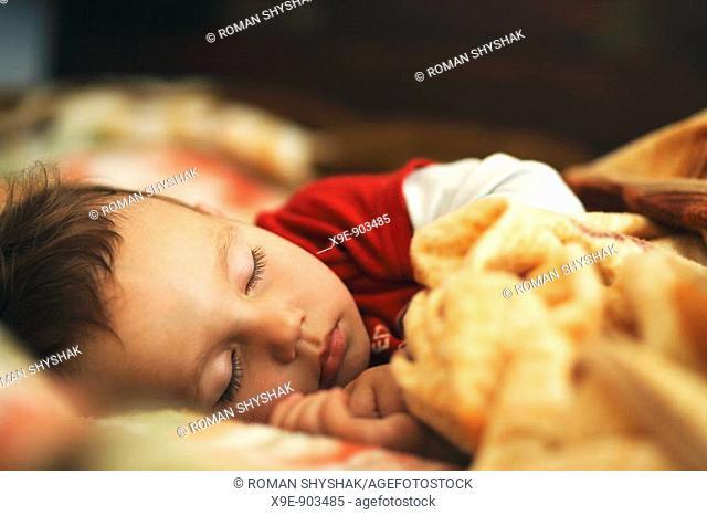 A little boy sleeping