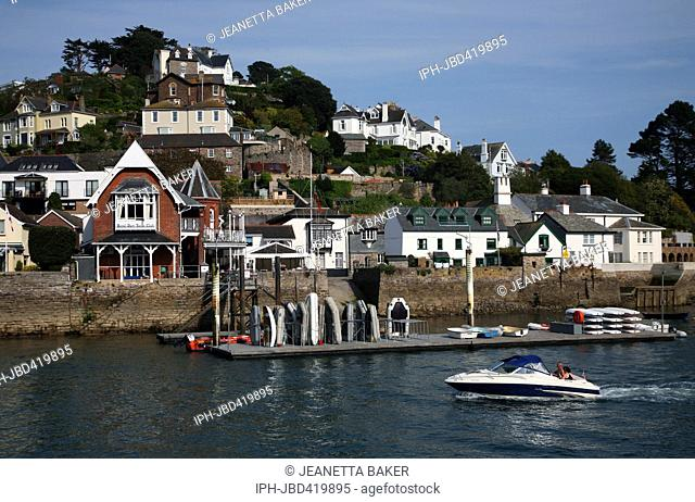 England Devon Dartmouth A view of Kingswear which is situated on the opposite side of the river to Dartmouth