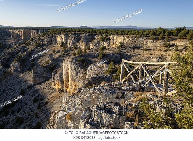 mirador de la Galiana, Parque Natural del Cañón del Río Lobos, Soria, Comunidad Autónoma de Castilla-León, Spain, Europe