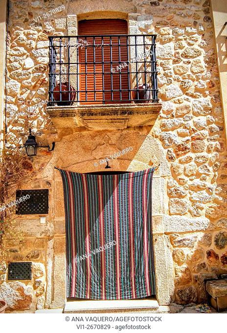 Fachada Puerto de Santa Cruz, Cáceres, Extremadura, España
