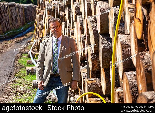 27 May 2020, Baden-Wuerttemberg, Grafenhausen: Peter Hauk (CDU), the Minister of Agriculture and Forestry of Baden-Württemberg