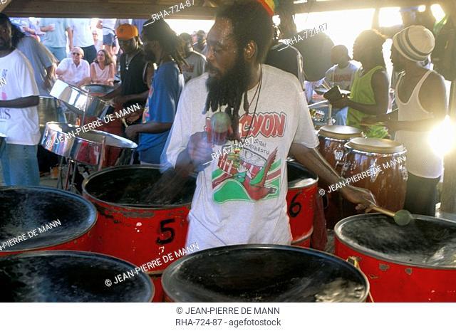 Steel band, Shirley Heights, Antigua, Leeward Islands, West Indies, Caribbean, Central America