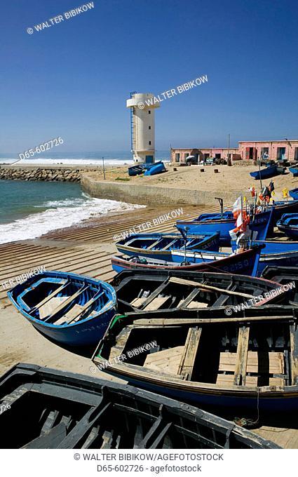 Morocco. Atlantic Coast. Imsouane. Fishing Village Harbor