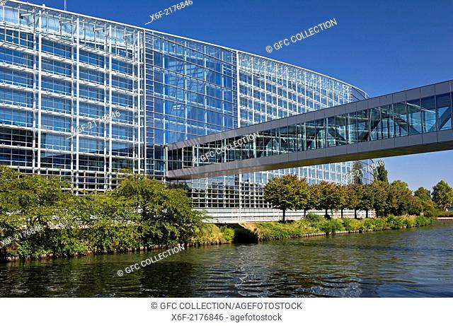European Parliament building, Strasbourg, Alsace, France
