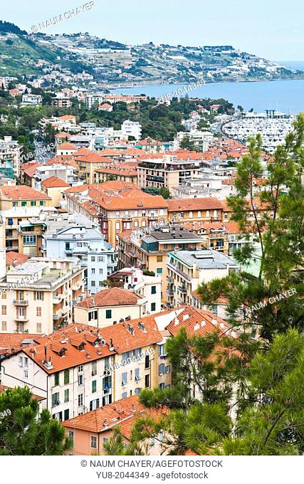 Red roofs of San Remo, Italy