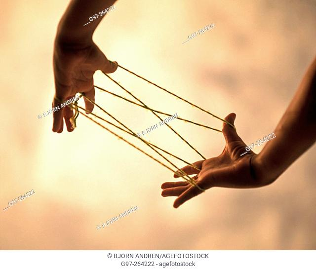 Hands with strings