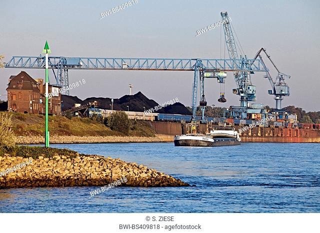 harbour in Rheinberg, Lower Rhine region, Germany, North Rhine-Westphalia, Ruhr Area, Rheinberg