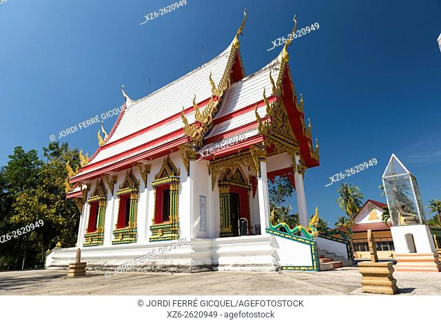 Buddhist temple in Koh Kood island, Ko Kut district in Trat Province, Thailand, Asia