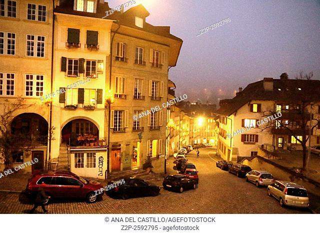 Bern Switzerland-DECEMBER 5, 2015: Night cityscape of Bern on Christmas time on December 5, 2015 in Bern, Switzerland