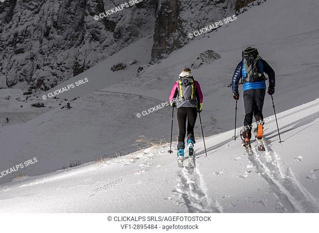 Dolomites, Fassa Valley, Italy, Europe, Trentino Alto Adige, Alps, Sella Pass