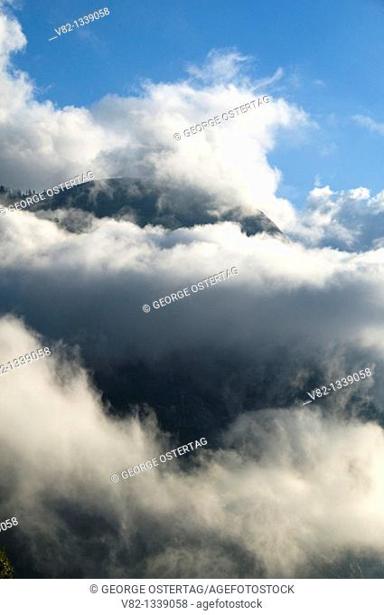 Clouds from Yosemite Falls Trail, Yosemite National Park, CA
