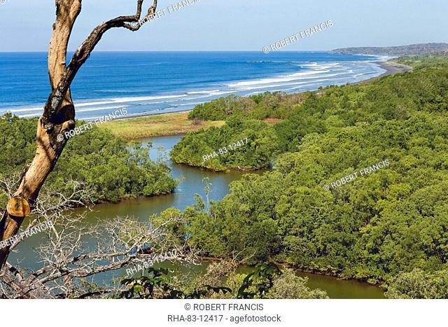 Ostional Beach and the Reserva Biologica Nosara, a private nature reserve on the Nosara River, Nosara, Nicoya Peninsula, Guanacaste Province, Costa Rica