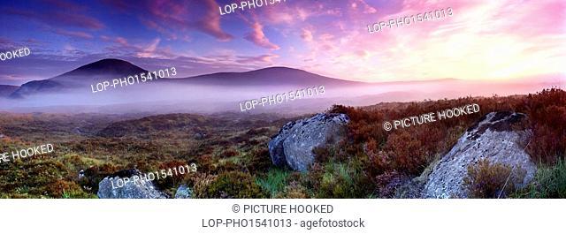 Scotland, Highland, Rannoch Moor. Dawn at Rannoch Moor