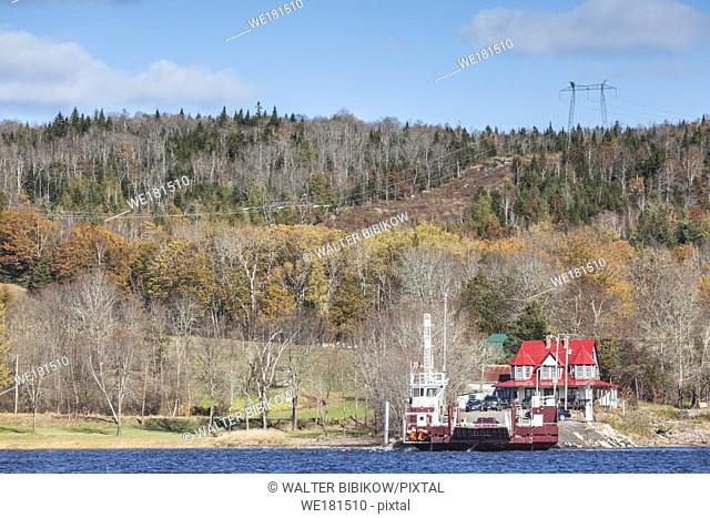 Canada, New Brunswick, Saint John River Valley, Evandale, Evandale Ferry on the St. John River