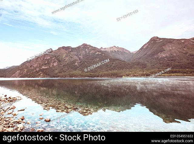 Beautiful mountain landscapes in Patagonia. Mountains lake in Argentina, South America